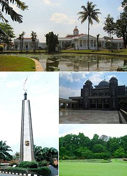 Bogor Wikipedia Top Clockwise Palace Great Mosque Botanical Garden Zoology