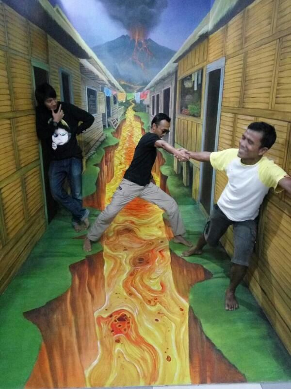 Mural 3d Trick Art Cimory Riverside Jogja Painting Jasa Kab