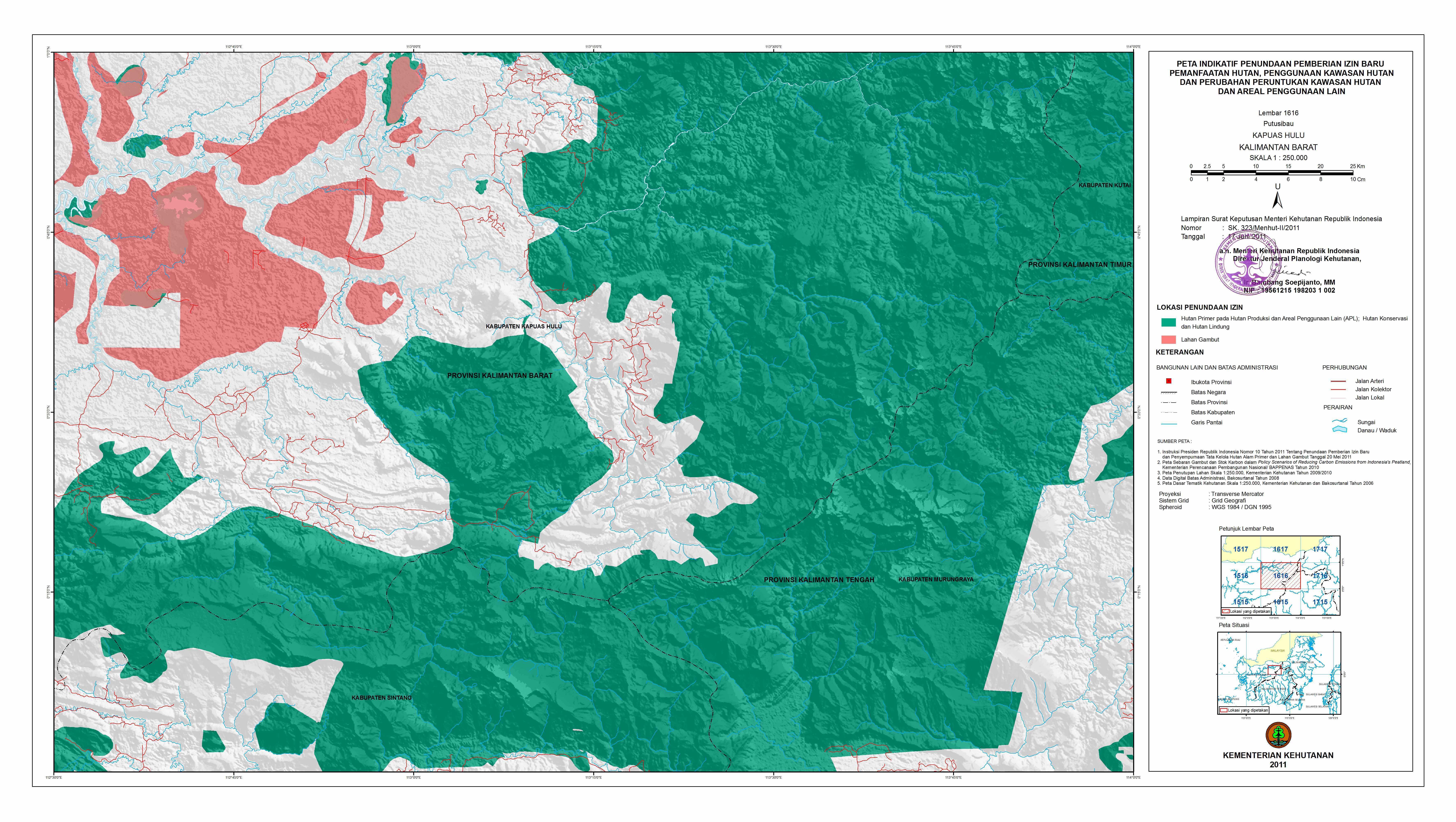 Kementerian Kehutanan Mengeluarkan Revisi Peta Moratorium Hutan Republik Indonesia Cifor