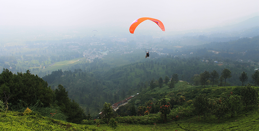 Exploring Great Outdoors Bogor Indonesia Waytogo Paragliding Fields Fly Kab