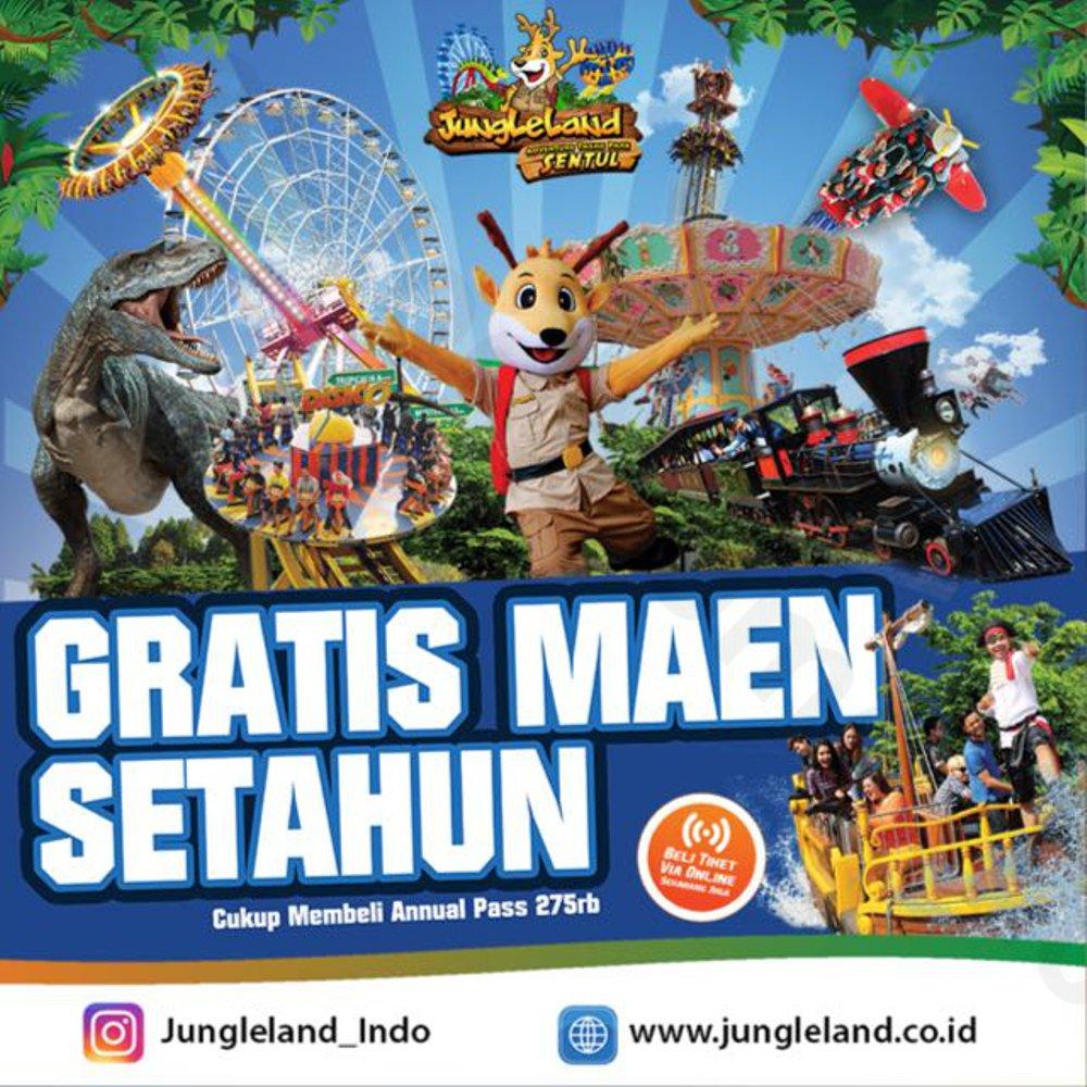 Jual Tiket Annual Pass Jungleland Bogor Gratis Maen Setahun Adventure