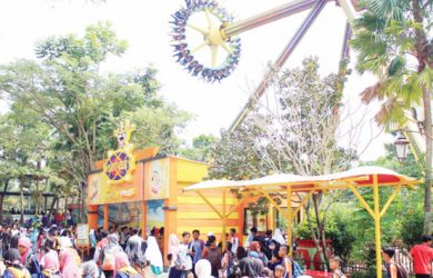 Libur Lebaran Pengunjung Jungleland Adventure Theme Park Bogor Naik Tiga