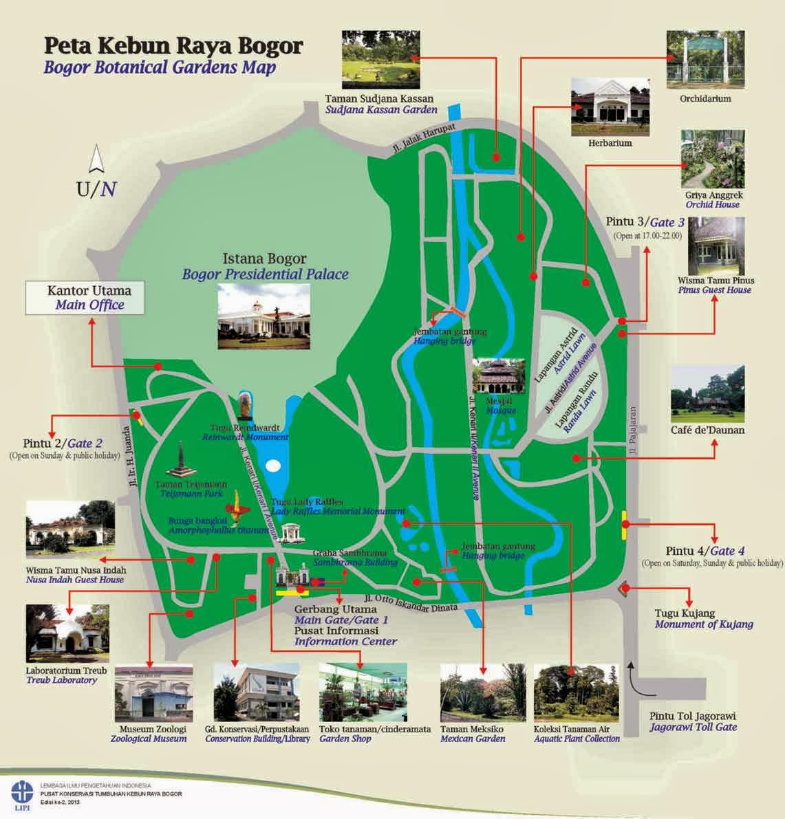 Halaman Bogor Peta Kebun Raya Botanical Garden Map Kab