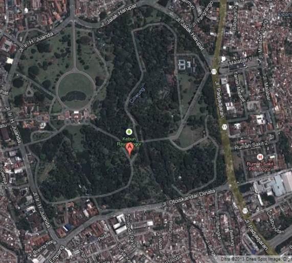 Peta Bogor Map Kota Kabupaten Ayam Bangkok Lokasi Kebun Raya