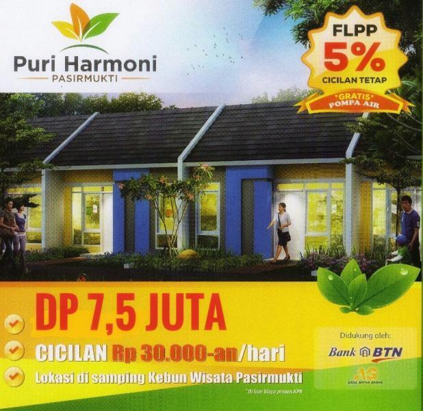 Dp 7 5 Juta Rumah Subsidi Puri Harmoni Pasirmukti Citeureup