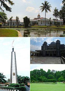Bogor Wikipedia Top Clockwise Palace Great Mosque Botanical Garden Musium