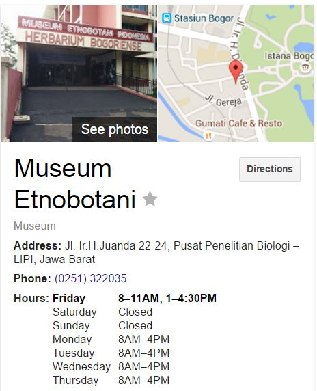 Informasi Seputar Museum Bangunan Bersejarah Layak Dikunjungi Jam Operasional Etnobotani