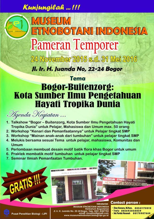 Pameran Temporer Museum Etnobotani Indonesia Daily Bogor Mei Siap Menggelar