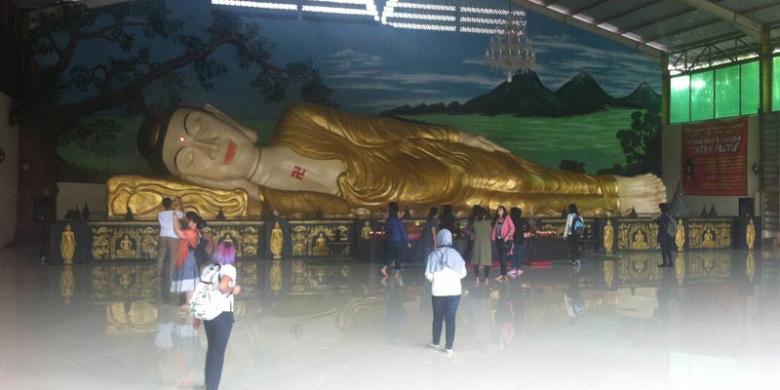 Caranya Menuju Wihara Sleeping Buddha Bogor Kompas Patung Tidur Kab