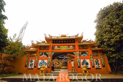 Mata Bogor Patung Buddha Tidur Terletak Kampung Jati Desa Tonjong
