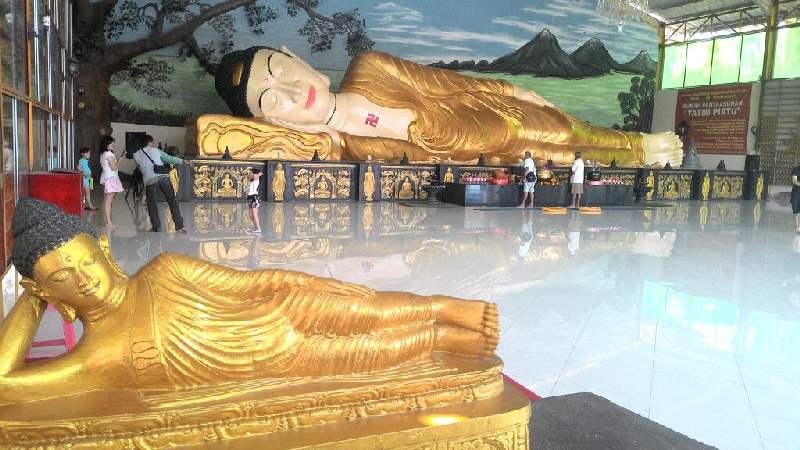 Mengetahui Patung Buddha Tidur Terbesar Bogor Okezone News Https Img