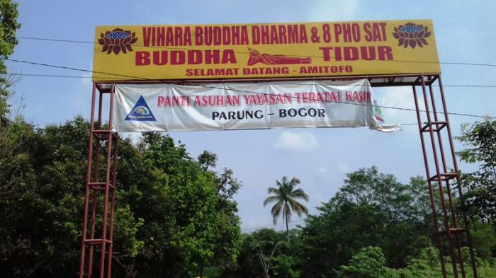 Patung Buddha Tidur Bogor Foto Fotonya Tribunnewsbogor Lingga Arvian Nugroho