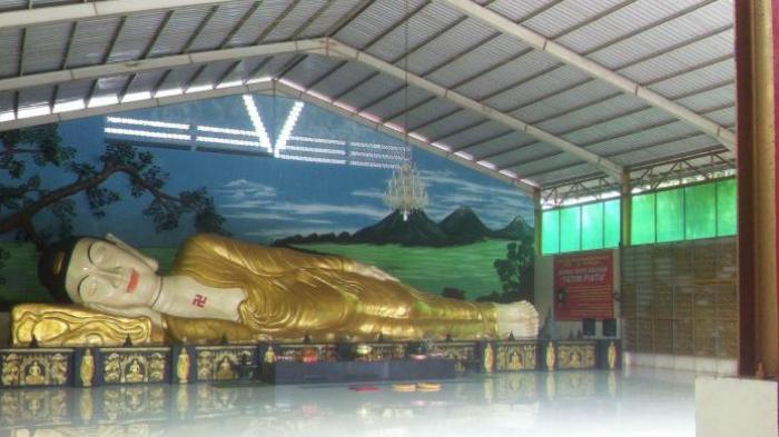 Patung Buddha Tidur Terbesar Indonesia Tonjong Bogor Kab