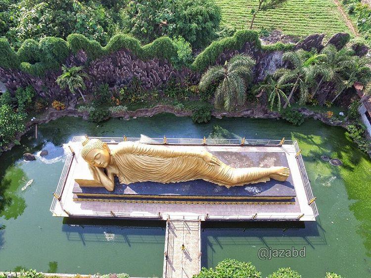 Patung Budha Tidur Terbesar Se Indonesia Sebagai Obyek Wisata Alternatif