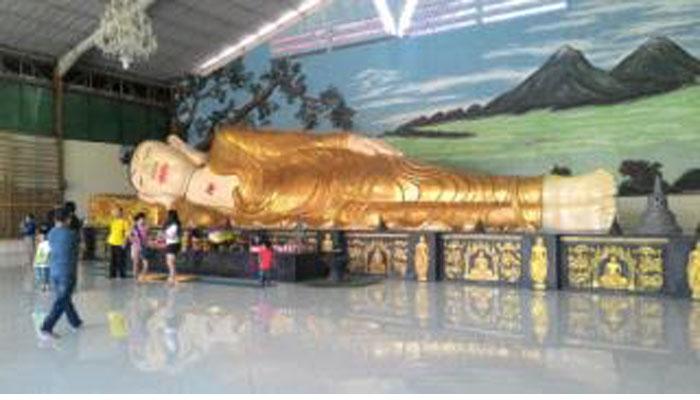 Patung Budha Tidur Terbesar Vihara Dharma Bogor Cukup Besar Posisi