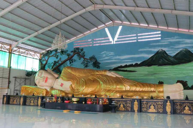 Ssst Patung Buddha Tidur Raksasa Bogor Rupang Sepanjang 18 Meter