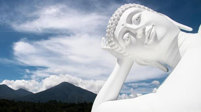Tak Perlu Thailand Melihat Patung Buddha Tidur Indonesia Kab Bogor