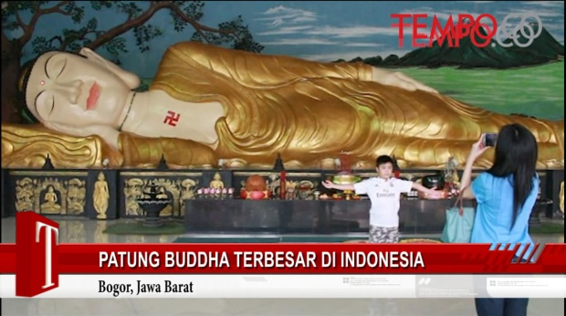 Video Inilah Patung Buddha Terbesar Indonesia Pemilu 2014 Tidur Kab