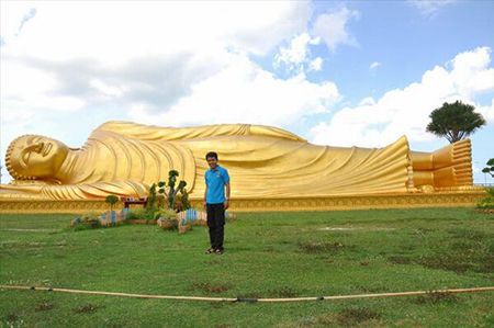 Wisata Patung Budha Tidur Mojokerto Indonesia Ternyata Mirip Myanmar Buddha