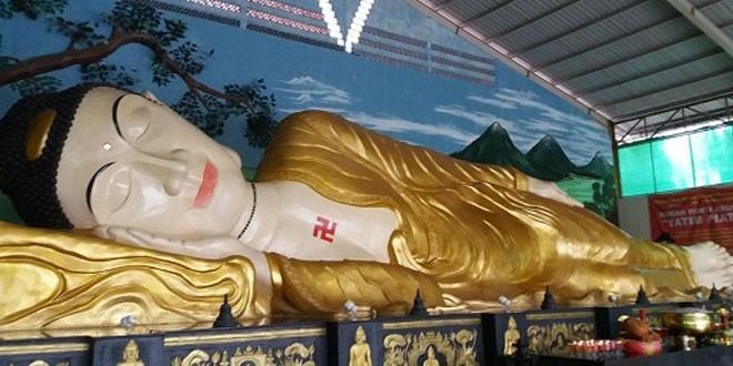 Wisatawan Buru Patung Buddha Tidur Bogor Waspada Online Foto Ist