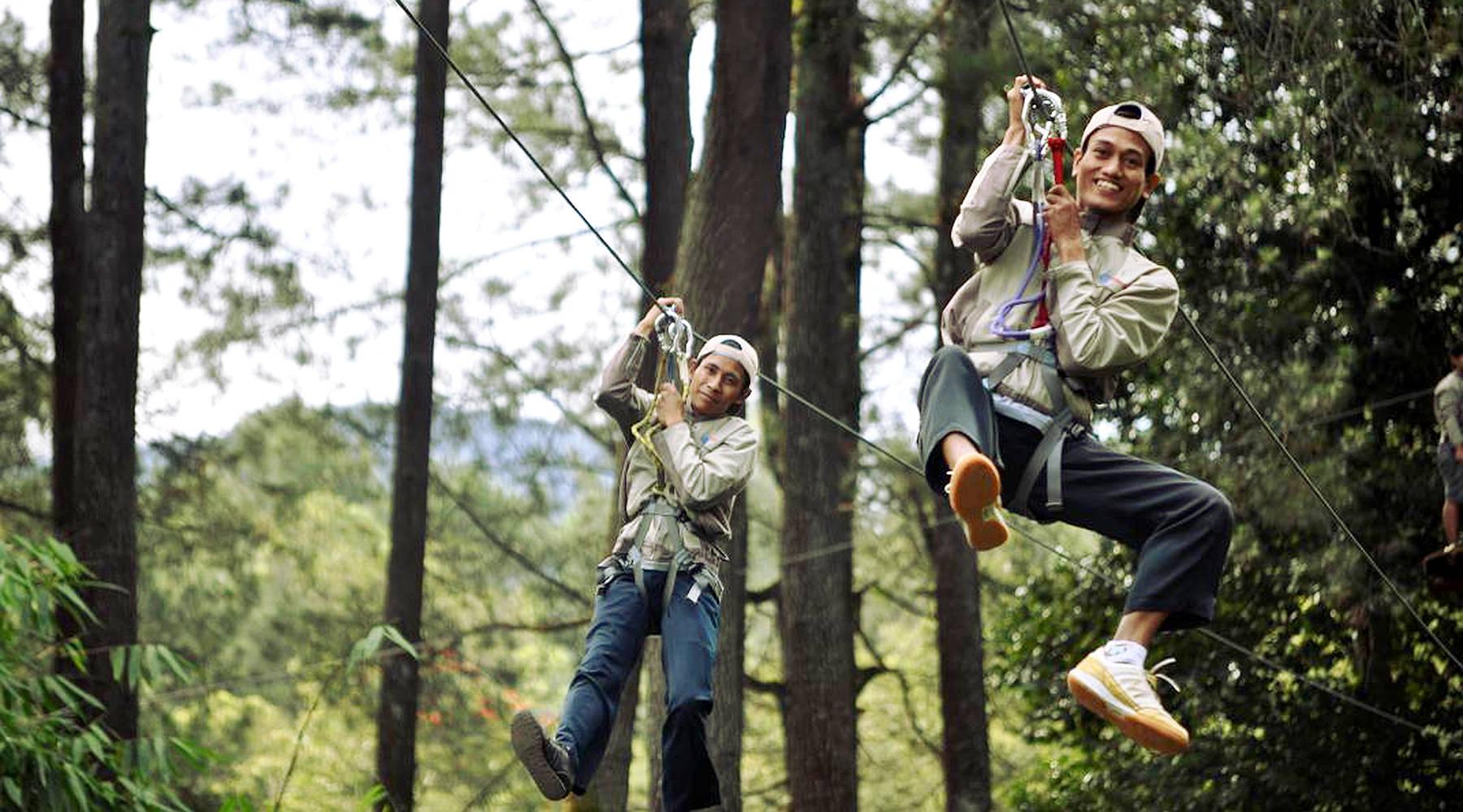 Home Bandung Treetop Adventure Park Put Training Hands Petualangan Hutan