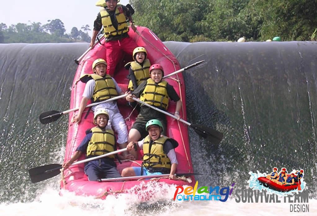 Arung Jeram Pelangi Outbound Jakarta Bogor Sukabumi Bandung Paket Rafting