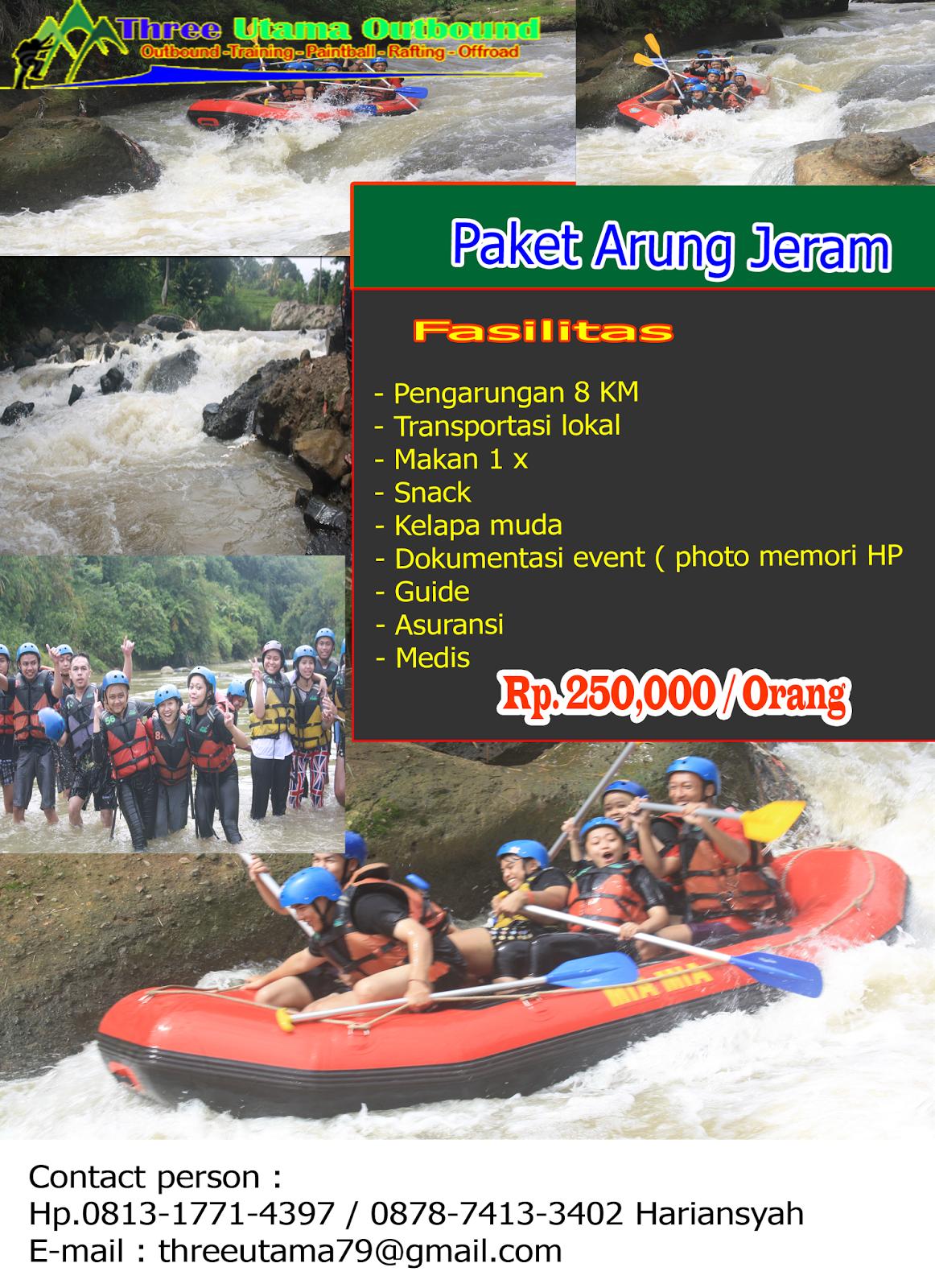 Paket Rafting Cisarua Arung Jeram Cisadane Outbound Menawarkan Sungai Bogor