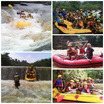 Paket Rafting Sungai Cisadane Bogor Binadika Outbound Disungai Kab