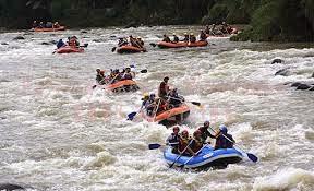 Rafting Cisadane Outbound Bogor Tempat Paket Salam Semangat Wana Management