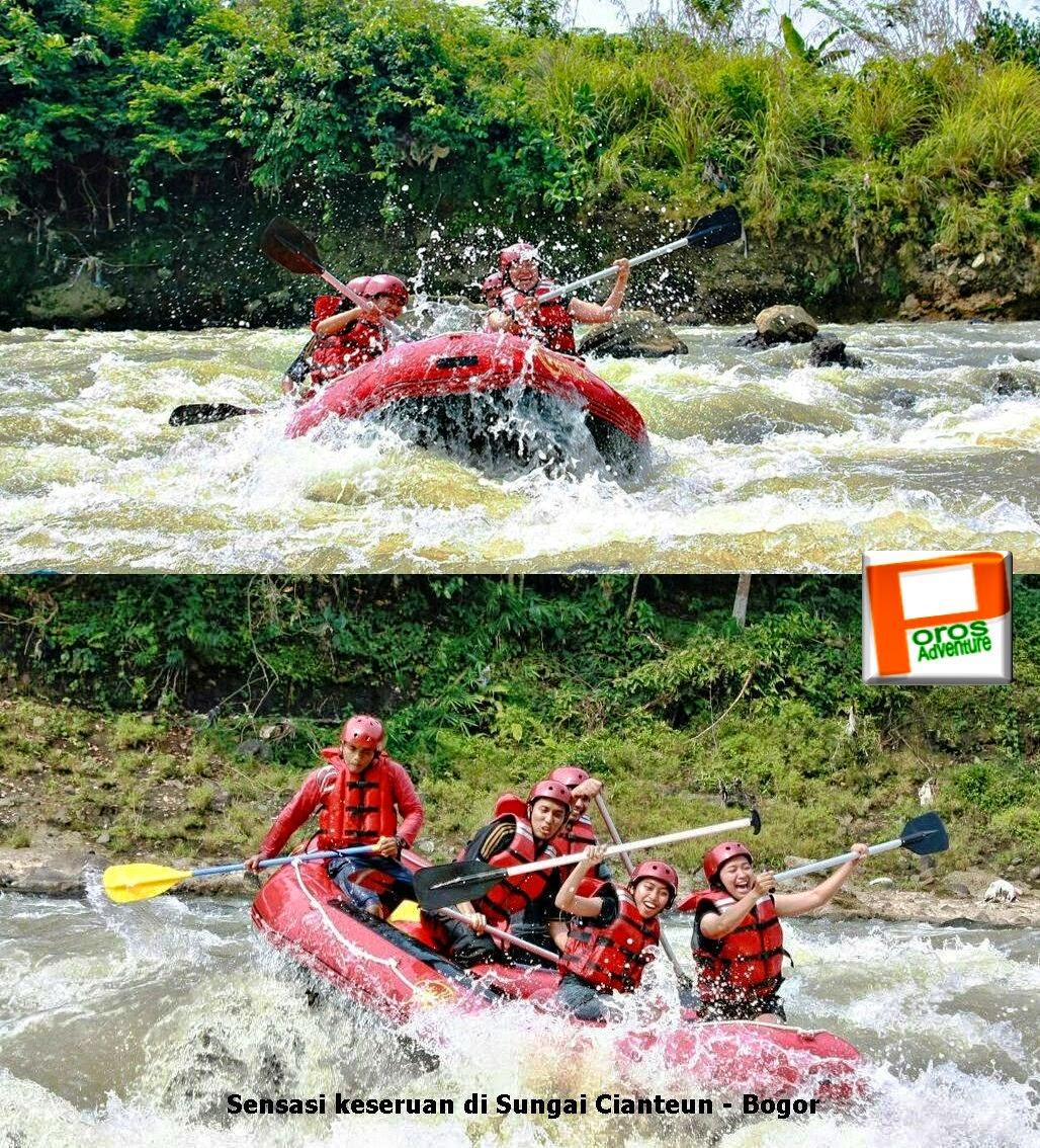 Wisata Arung Jeram Sungai Cianteun Bogor Fun Rafting Paket Cisadane