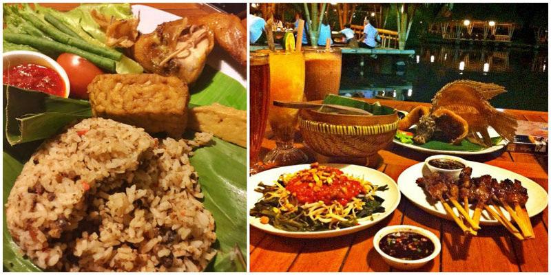 14 Unique Cafes Restaurants Bogor Dine Rumah Air Traditional Menu