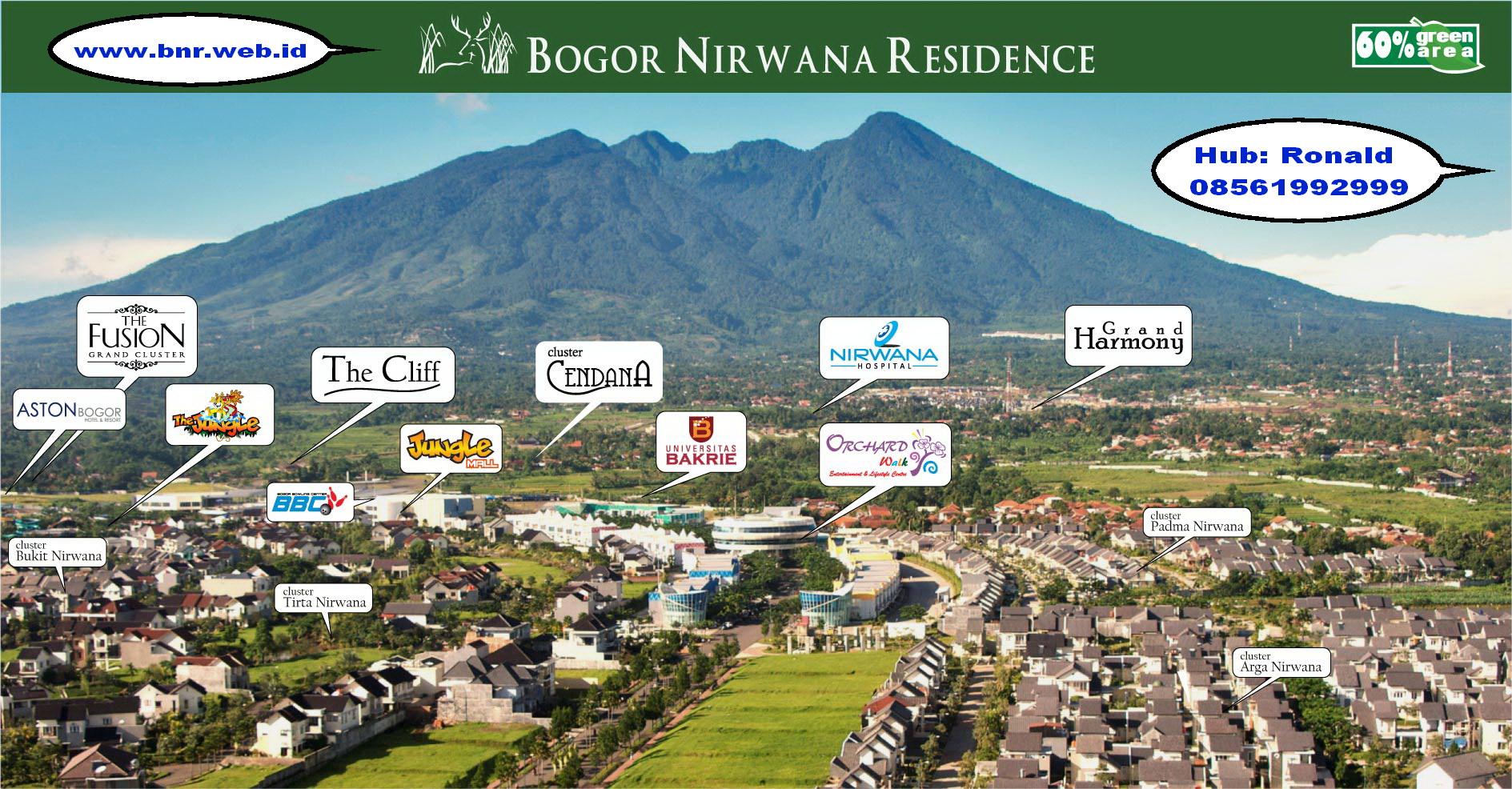 Rumah Dijual Bogor Nirwana Residence Air Kab