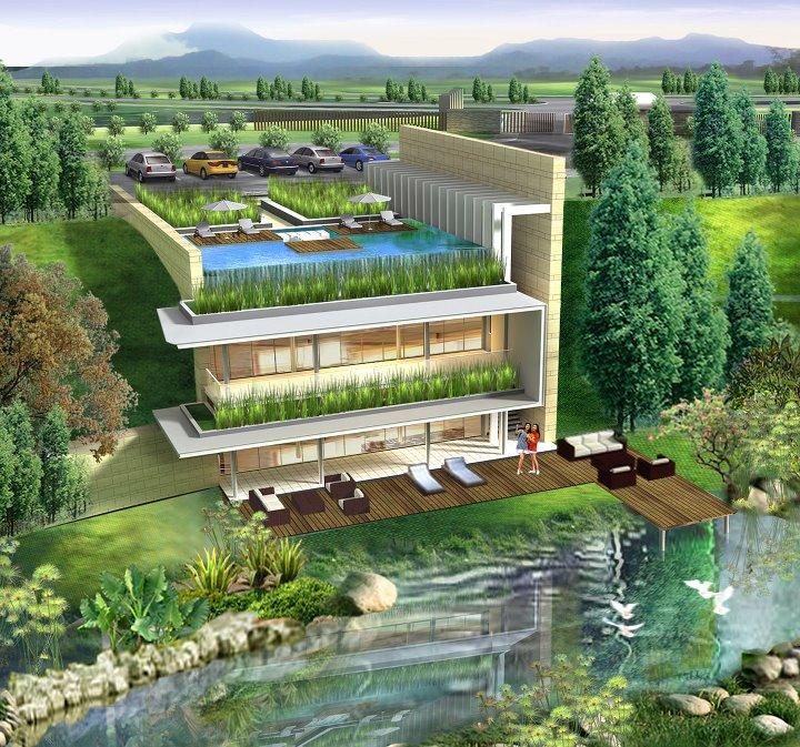 Rumah Dijual Cliff Bnr Jungle Air Bogor Club House Nirwana