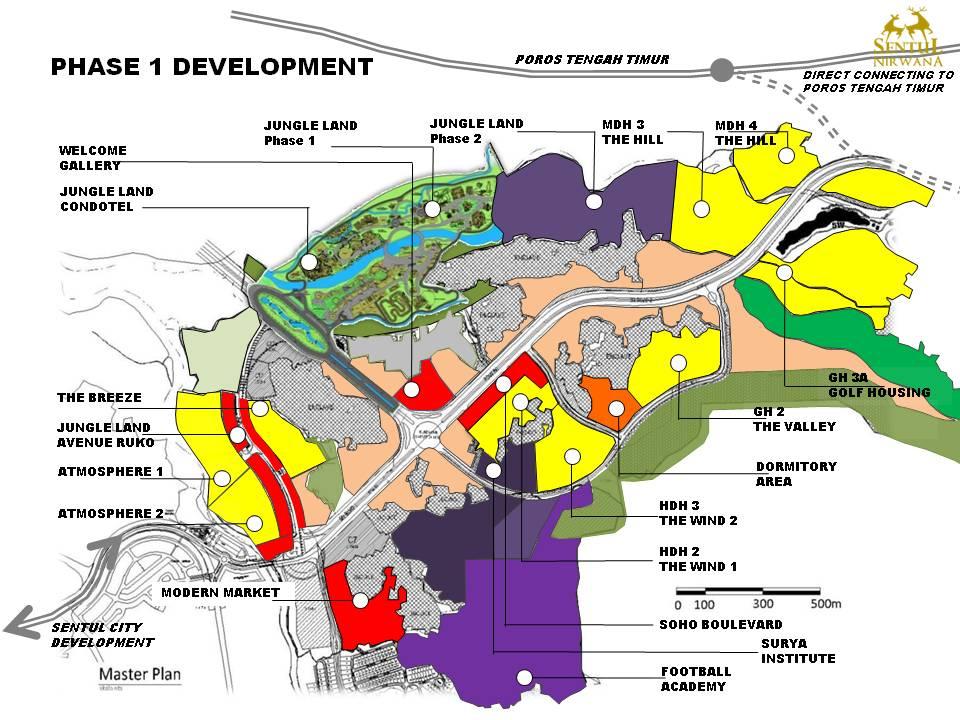 Sentul Nirwana Cari Rumah Indonesia Peta Lokasi Air Bogor Residence