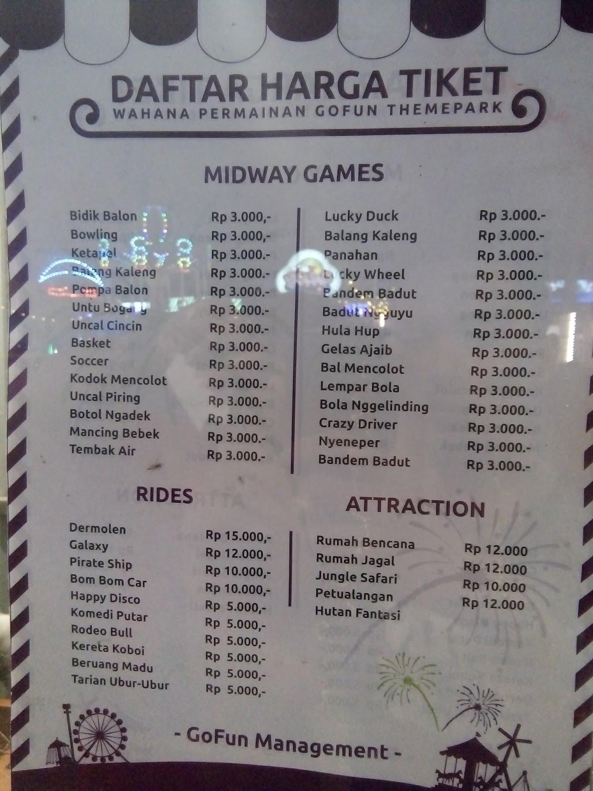Jalan Gofun Bojonegoro Theme Park Destinasi Wisata Wahana Update Agustus