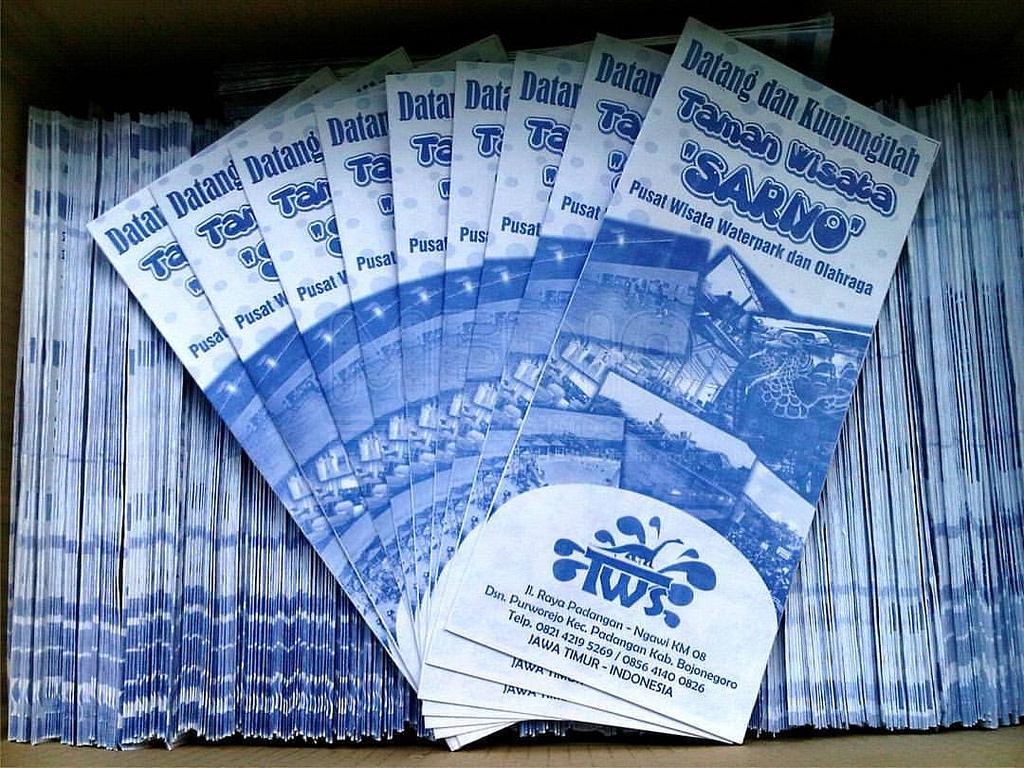 Taman Wisata Sariyo Cetak Brosur Hvs Sederhana Mulai Rp 9