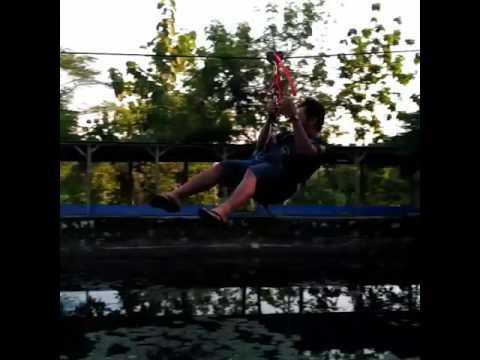 Taman Wisata Sariyo Flying Fox Youtube Kab Bojonegoro