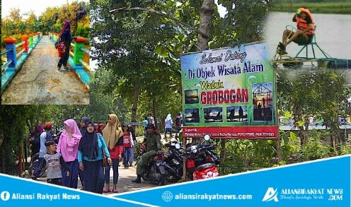 Hari Minggu Ratusan Pengunjung Padati Wisata Waduk Grobogan Bendo Related