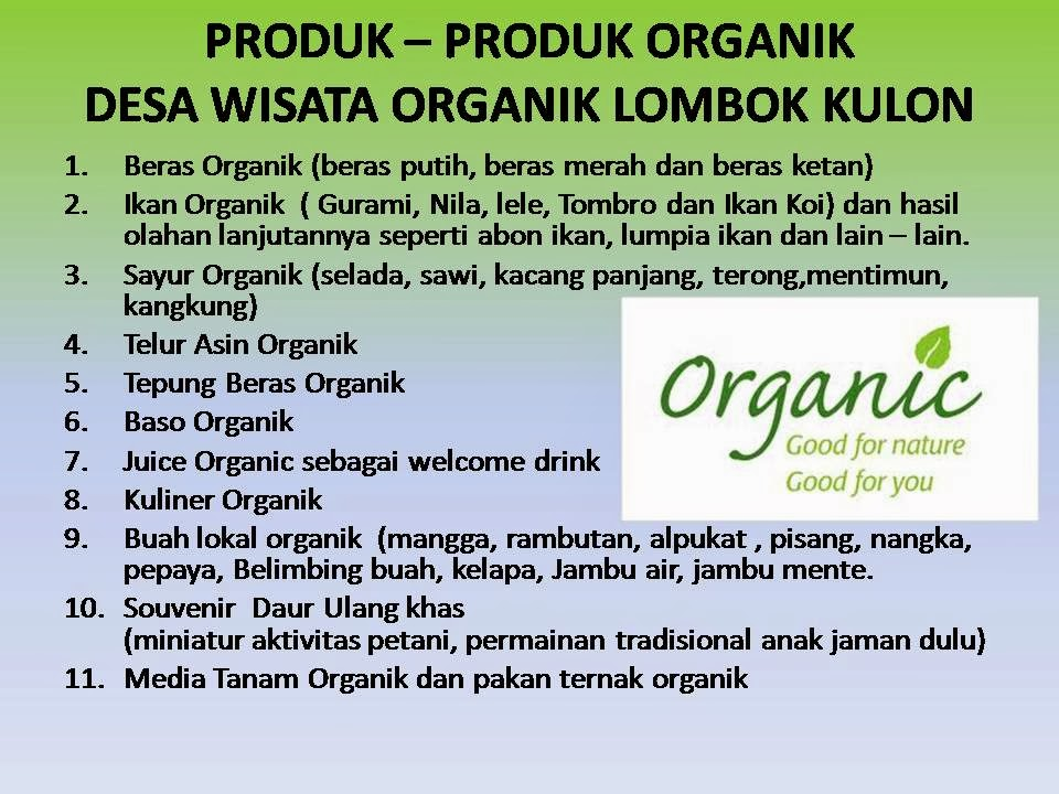 Desa Wisata Bondowoso Organik Lombok Kulon Diposting Oleh Intanpuspitade Selasa