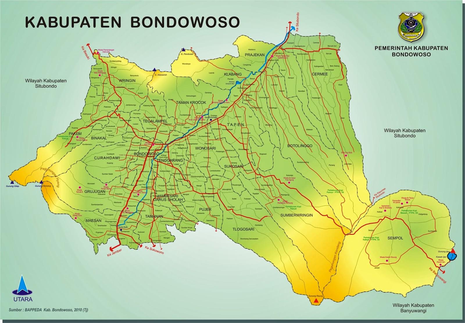 Daftar Nama Tempat Objek Wisata Bondowoso Jawa Timur Pemandian Tasnan