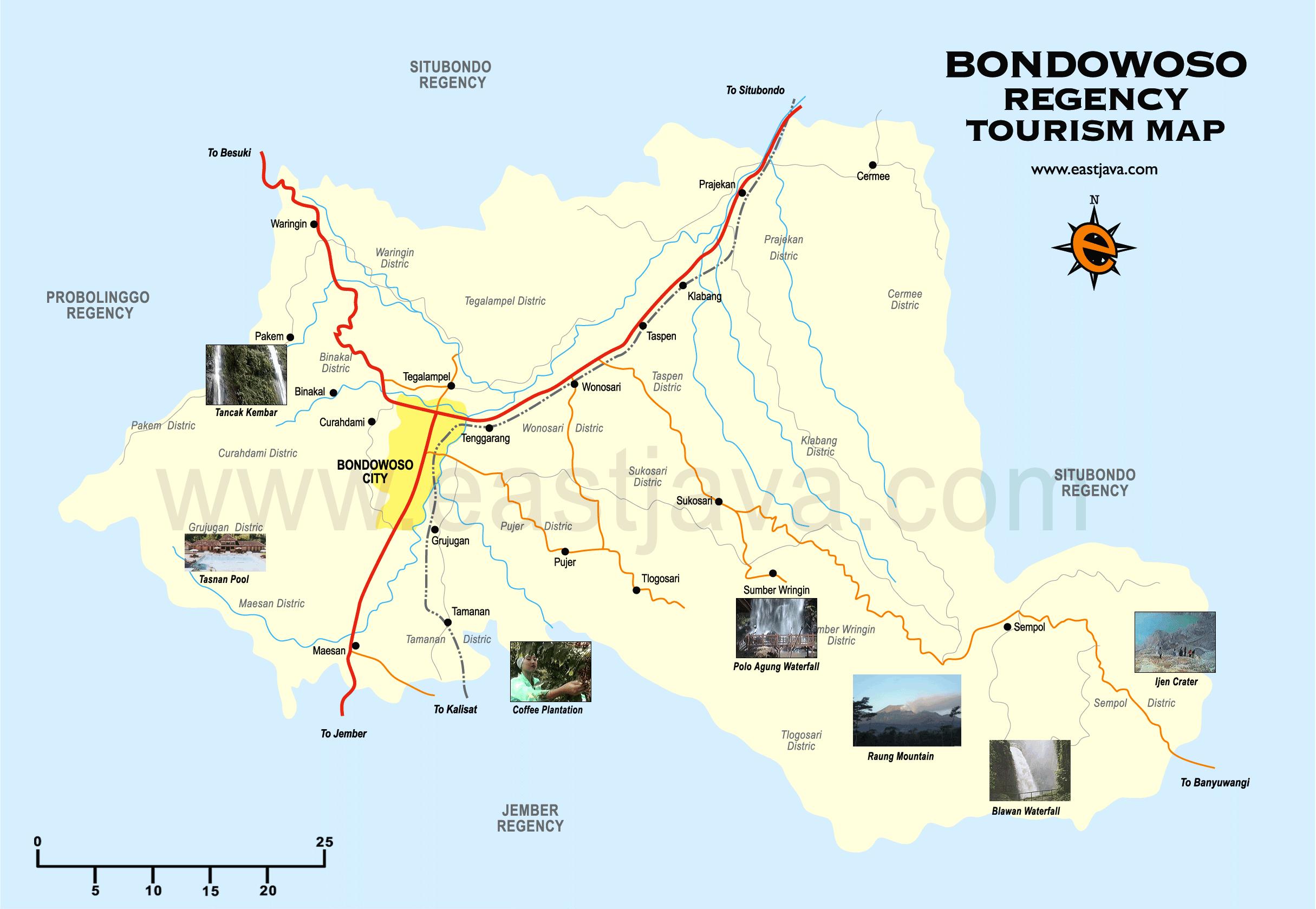 Peta Bondowoso Kabupaten Dapatkan Resolusi Tourism Map Pemandian Tasnan Kab