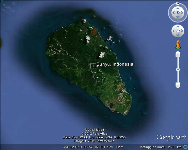Serbi Pulau Kalimantan Timur Bunyu Terdapat Kabupaten Bulungan Hutan Mangrove