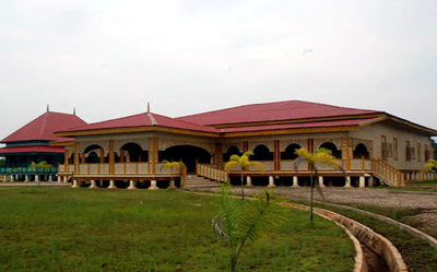 Maret 2014 Springocean83 Istana Kebanggaan Kesultanan Pelalawan Terletak Kab Riau
