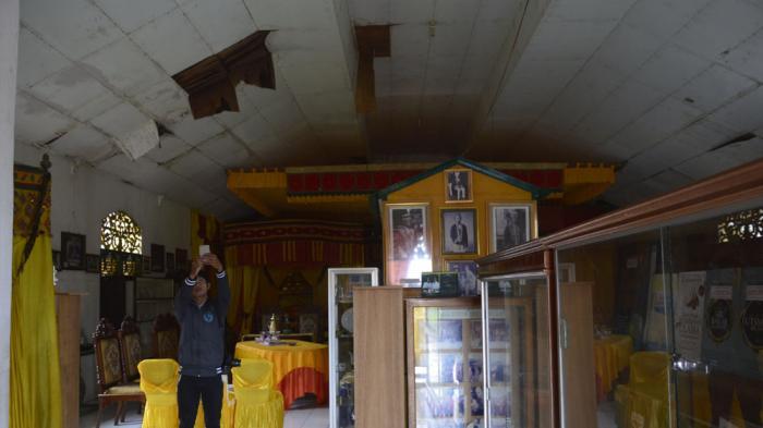 Atap Museum Kesultanan Bulungan Tanjung Palas Bocor Kesultana Kab