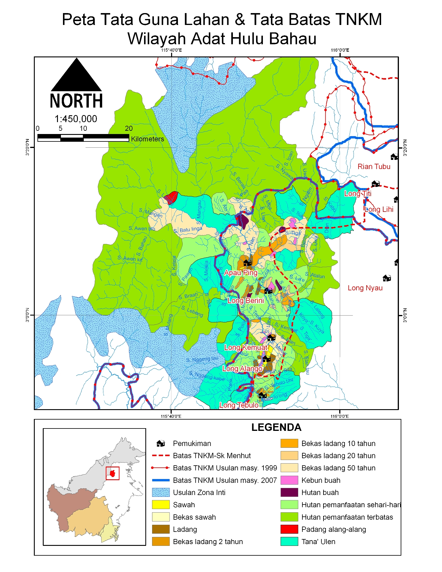 Social Nature Forest Resources Community Mapping Enlarge Long Pujungan Kayan