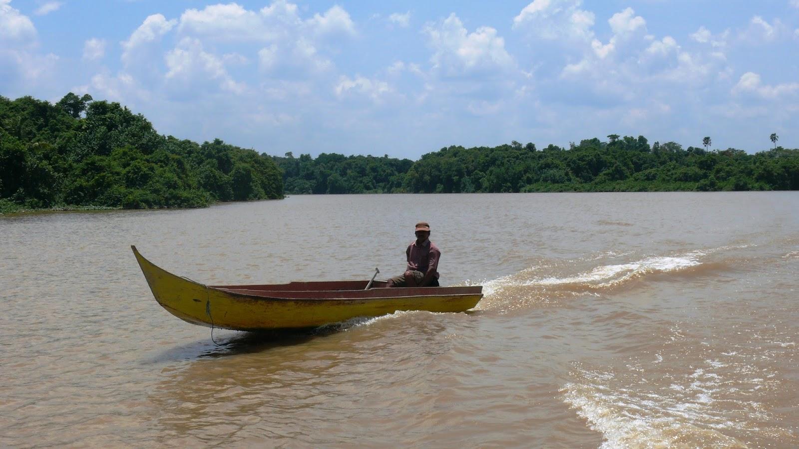 Sungai Sabanar Teluk Selimau Kalimantan Utara Bangunan Dermaga Kelurahan Tanjung