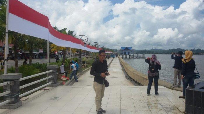 Meriahkan Hut Ri Warga Bulungan Bentangkan Bendera Merah Putih 720