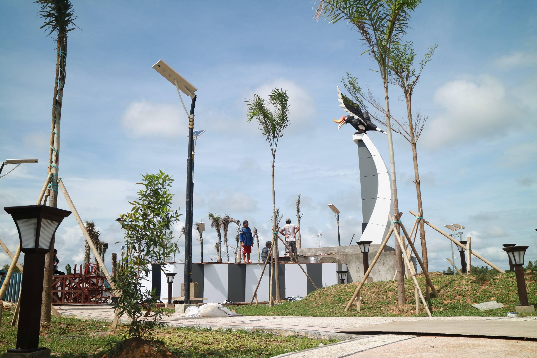 Taman Sabanar Jadi Ikon Tanjung Selor Benuanta Id Tugu Cinta