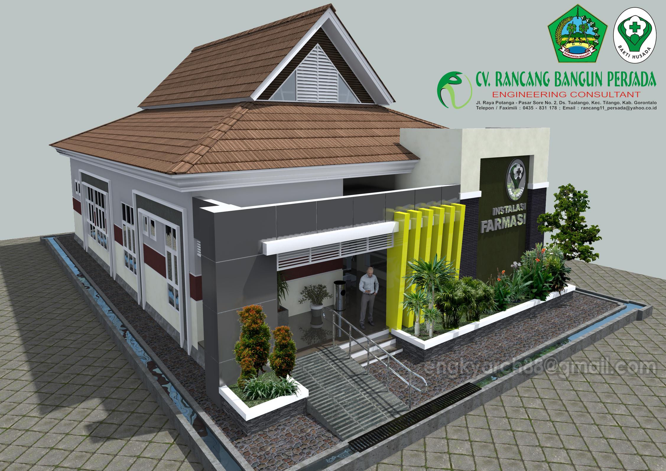 Ded Gedung Instalasi Farmasi Rumah Sakit Pratama Kab Boalemo Banyu