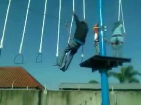 Outbound Flying Fox Kolam Renang Banyu Pratama Sampang Cilacap Youtube